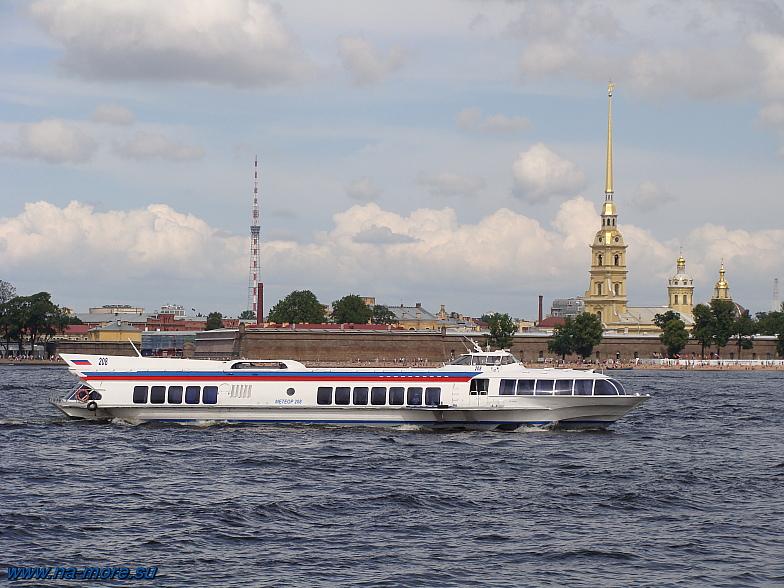 Река Нева. Петропавловская крепость.