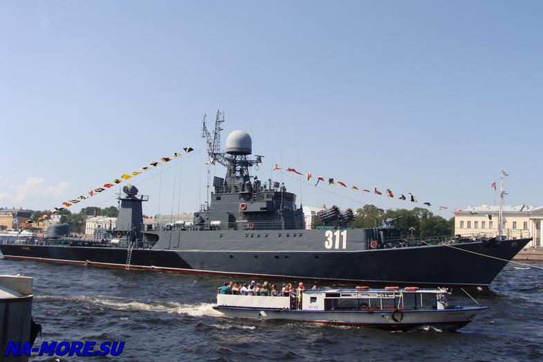 Малый противолодочный корабль Казанец проекта 1331М Ленинградской ВМБ на Неве