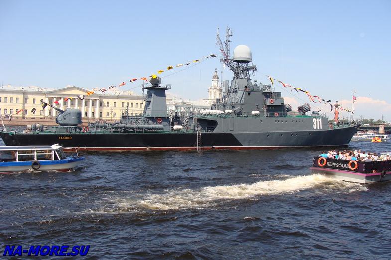 День ВМФ 2014. Нева. Корабли на рейде.