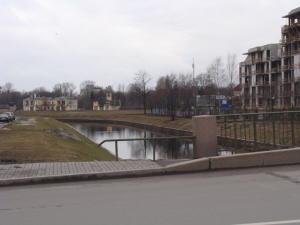 Река Карповка. С правой стороны был трампарк им. Скороходова.